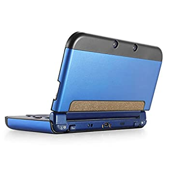 TNP Protective Case Compatible with Nintendo NEW 3DS XL LL 2015 Navy Blue - Plastic + Aluminum Full Body Protective Snap-on Hard Shell Skin Case Cover New Modified Hinge-less Design