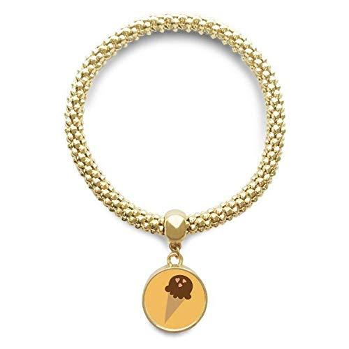 DIYthinker Damen Erdnuss Praline EIS goldene Armband Laufende hängende Schmuckkette