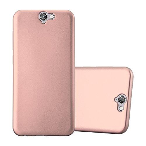 Cadorabo Funda para HTC One A9 en Metallic Oro Rosa - Cubierta Proteccíon de Silicona TPU Delgada e Flexible con Antichoque - Gel Case Cover Carcasa Ligera