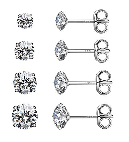 925 STERLING SILVER BLACK LAB DIAMOND ICED OUT STUD EARRING 8mm x 8mm R413