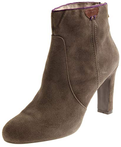 Mexx Damen Lederstiefelette Lederschuhe Stiefelette Schuhe High Heels Grau EU 41