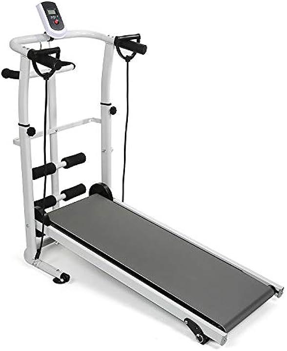 tapis roulant meccanico, tapis roulant manuale pieghevole, attrezzature per il fitness popspark b07yqlnynj