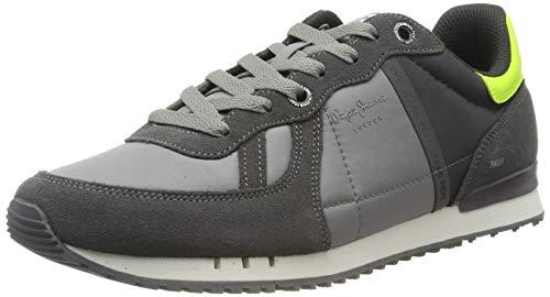 Pepe Jeans London Herren Tinker Zero REFLETIVE Sneaker, Grau (Dark Grey 975), 41 EU