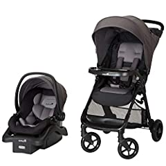 This Safety 1st all in 1 travel system allows for a seamless transition from car to stroller; QuickClick technology secures the LATCH equipped car seat to the stroller without disturbing your baby With exceptional side impACt protection, the included...