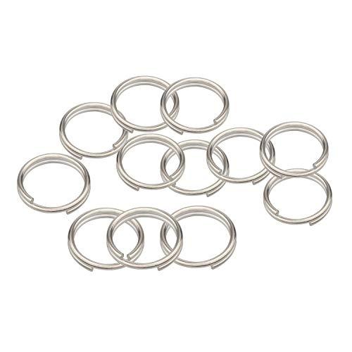 Wisdompro - Anelli apribili in lega di titanio, confezione da 12