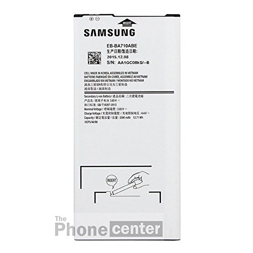 TPC© - Batteria originale Samsung EB-BA710ABE per Samsung Galaxy A7 2016, 3300 mAh, bulk