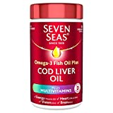 Seven Seas Simply Timeless Omega-3 Fish Oil Plus Cod Liver Oil Plus Multivitamins, 90 One a Day capsules, with vitamin D and Omega 3 to support overall health