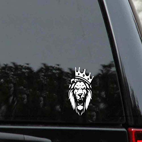 Houte Car Sticker Decor Lion Wearing A Crown of Kings Rights Car Decals for car Body Window Door Rear Windshield
