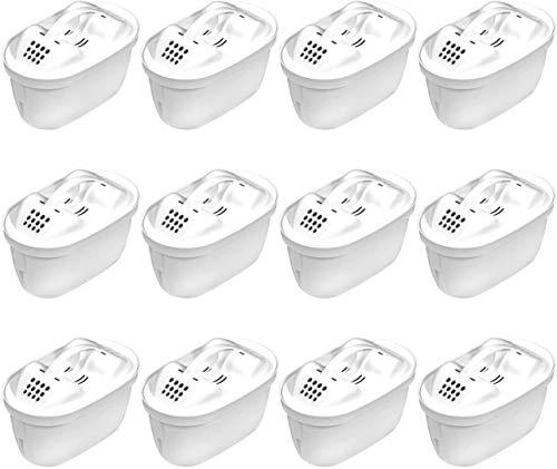 12 Aqua Select Multimax+ Patronen mit UltraFit® Ventilheber geeignet für Brita perfect fit-Systeme