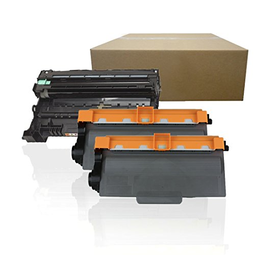 Inktoneram Compatible Toner Cartridges & Drum Replacement for Brother TN750 TN720 DR720 DR-720 TN-750 MFC-8510DN MFC-8710DW MFC-8810DW MFC-8910DW MFC-8950DW MFC-8950DWT ([Drum, 2-Toner], 3-Pack)