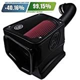 S&B Filters 75-5116 Cold Air Intake for 2017-2018 Silverado/Sierra 1500 5.3L & 6.2L (Oiled Cleanable, 8-ply Cotton Filter)