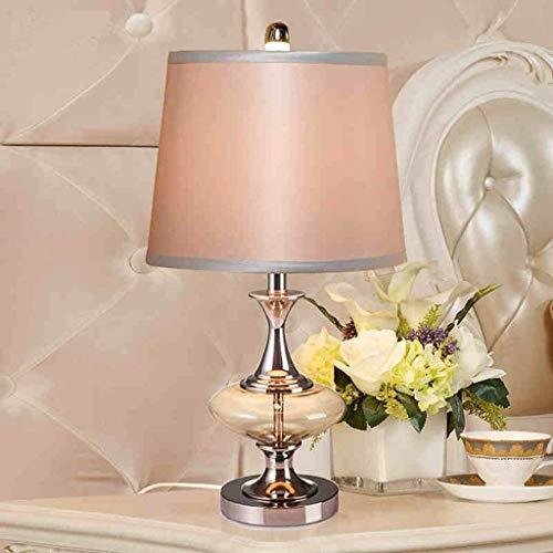KANJJ-YU Personalidad Simple del Estilo Europeo Dormitorio Boda lámpara de cabecera, Cristal Moderno Lámparas de Mesa, iluminación Minimalista de la Manera Creativa de Lectura luz de la Noche Lámpara
