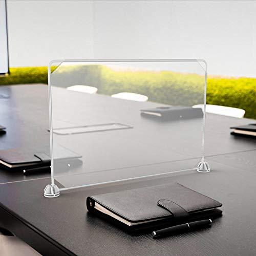 KDBEB Transparent Plexiglas Scheiben,45x30cm / 17.55x11.7in,Plexiglas Schutzwand Mit Durchreich für Büro-Rezeption
