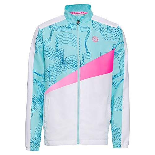 BIDI BADU Teku Tech Jacket - White/Mint/pink, Größe:XL