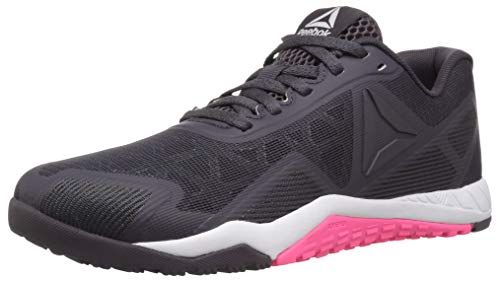 Reebok Women's ROS Workout TR 2.0 Sneaker, Smoky Volcano/White/Acid Pink, 5 M US