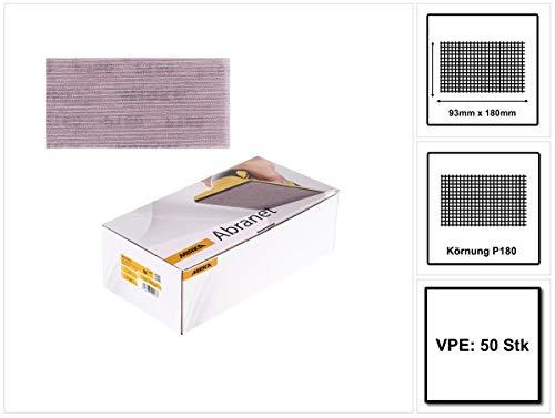 Mirka 5412805018 Abranet Grip P180, 93 x 180 mm, 50 Pro Pack