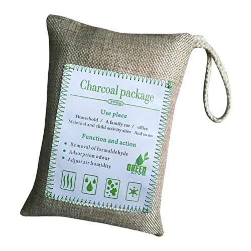 Tasche aus Aktivkohle zur Geruchsentfernung Bambuskohle 1 Stück Aktivkohle Lufterfrischer Geruchsentferner Kohle F