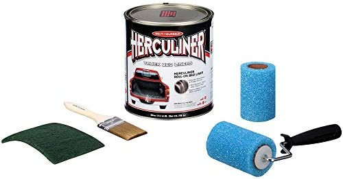 Herculiner HCL0B8 Liquid Black Truck Bed Liner 1 Gallon Brush and Roller Kit product image