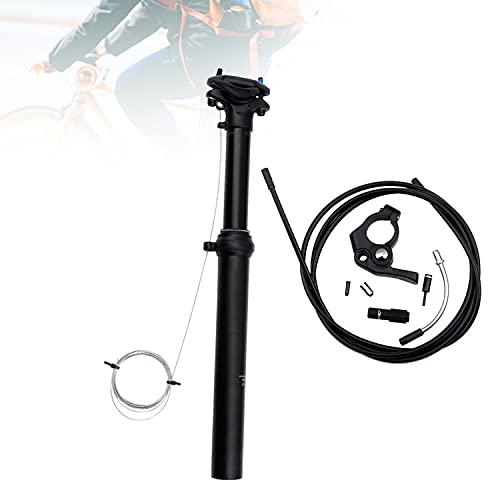HIMABeauty Tija De Sillín Telescópica para Bicicleta De Montaña, Cuentagotas De Aleación De Aluminio 30.9mm/31.6mm con Enrutamiento De Cable Externo para Bicicleta De Carretera MTB BMX,30.9 * 375mm