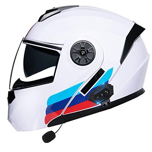 STRTG Casco para Moto con Bluetooth Cascos Modular Flip Up Motocicleta, Doble Visera Anti Niebla HD Reducción De Ruido con Altavoz Incorporado para Adultos ECER 22-05 Aprobado N,XXL