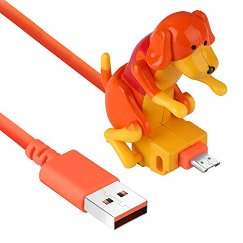 SIZHINAI Stray Dog Charging Cable, Humping Spot Dog Smartphone Charging Cable, Cable Toy Dog Smartphone Charger Suitable for Various Models of Mobile Phones Type-C Portable