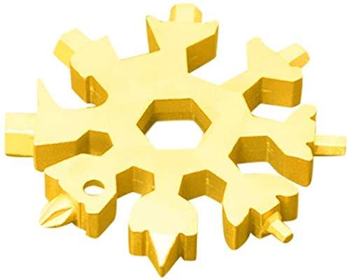 18-in-1 Schneeflocke Multitool, Schneeflocke Werkzeug, Multitool Edelstahl, Schneeflocken Multifunktionswerkzeug, Schraubendreher, Flaschenöffner Ringschlüssel Schlüsselbund, Geschenke für Männer