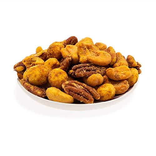 KERNenergie Nussmischung V.I.P. Curry Deluxe | 2x500g frisch geröstete Cashewkerne, Pekannüsse und Macadamias in exotischer Curry-Würzmischung