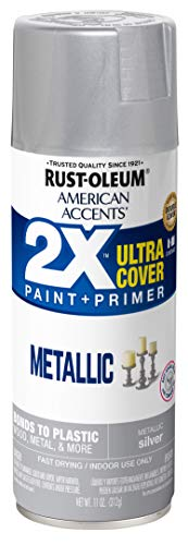 Rust-Oleum 327910 American Accents Spray Paint, 12 Oz, Metallic Silver