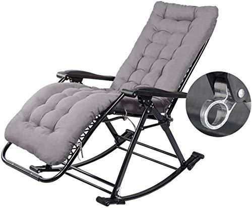 MFLASMF Productos para el hogar Sillas mecedoras al Aire Libre Silla reclinable Plegable Tumbona de jardín Ocio - Tumbona de Patio Reclinable con cojín MAX.250kg