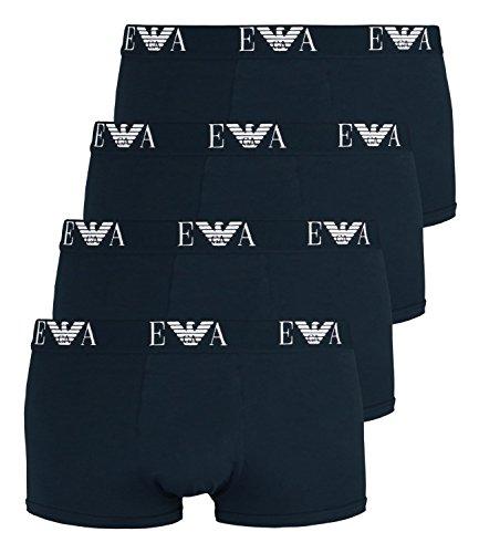 Emporio Armani Herren Boxershorts 111210-CC715 4er Pack, Farbe:Blau, Menge:4er Pack (2X 2er), Wäschegröße:M, Artikel:111210-CC715-27435 Marine