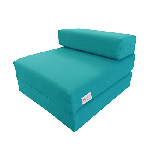 My Layabout Kids Waterproof Z Bed/Chair Sofa bed/Fold up bed Double or Single (Single | 1 Seater, Pale Blue)