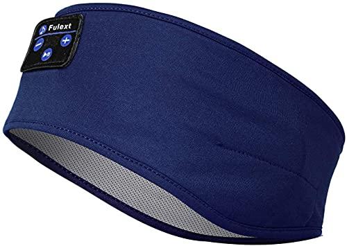 Casque de sommeil sans fil Voerou - Casque de sport confortable - Idéal pour les personnes dormant sur le côté, la course, le yoga, l'insomnie et les voyages - Bleu