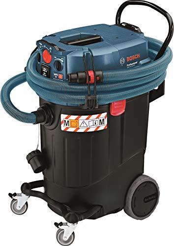 Bosch Professional Nass-/Trockensauger GAS 55 M AFC (inkl. Fugendüse, Entsorgungssack, Krümmer, Bodendüsen-Set, 35 mm Ø, 1x PES-Flachfaltenflter, 3x 0,35 m Saugrohr, verchromt, Schlauch 5 m, Ø 35 mm)
