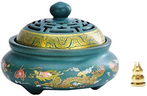 丸香炉?香立香?アンティークモダン陶器の渦巻き線香アロマセラミックス商品 (双?) (双?)
