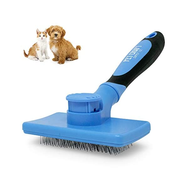 Pet Craft Supply Self Cleaning Calming Slicker Pet Grooming Brush for Dogs and Cats...