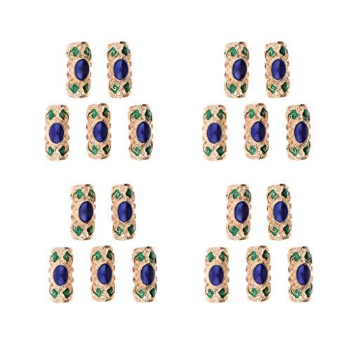 B Blesiya 20 piezas perlas anillos trenzas Beads para extensión de cabello