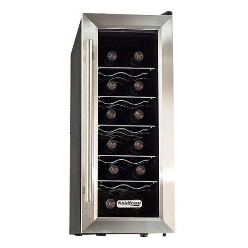 Koldfront 10 Inch 12 Bottle Thermoelectric Wine Chiller Cooler,...
