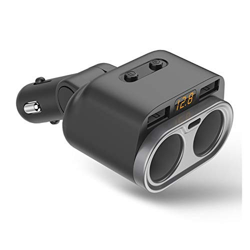 Nuevo cargador de coche MEI multi-función de carga rápida dual USB con interruptor 2-socket encendedor divisor 80W ajuste para la instalación del teléfono es simple y el modelo es adecuado