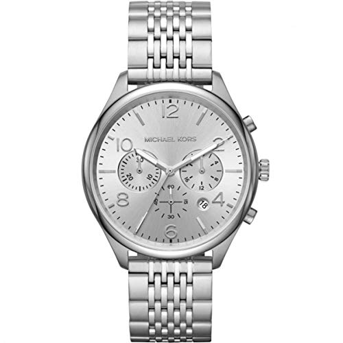 Michael Kors Herren Chronograph Quarz Uhr mit Edelstahl Armband MK8637