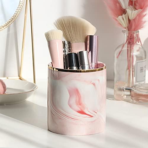 N\C 1 unids mármol cosmético maquillaje cepillo caja de almacenamiento organizador mesa maquillaje esmalte de uñas cosmético titular de herramientas de maquillaje titular de la pluma estante