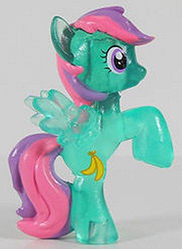 My Little Pony-Mon Petit Poney - Mini Figurine Translucide de 4 cm environ - Animaux - PoneyVille Single Banana Bliss -Neuf Hors emballage d'origine