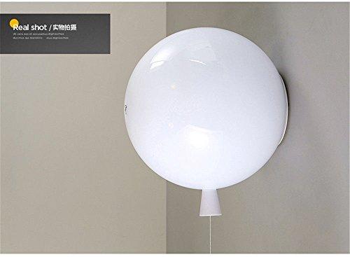 JJZHG wandlamp wandlamp waterdichte wandverlichting warme kinderkamer creatieve slaapkamer lamp persoonlijke restaurant woonkamer lamp ballon wandlamp wit 25 cm wandlamp