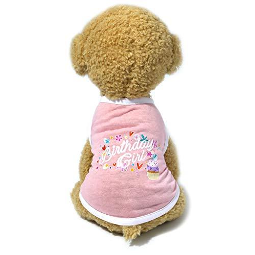 Longra Cane Gatto Vestiti Maglia Caldo Maglieria per Cane Gilet Stampa Vestiti da Compleanno per Cani Giacca Cappotto Animali Domestici Gatto Maglione Caldo Maglieria