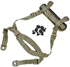 FMA TB269 4 Points Tactical Helmet Accessories Retention System Chin Strap with Bolts and Screws for Mich Fast IBH Helmet tan BK