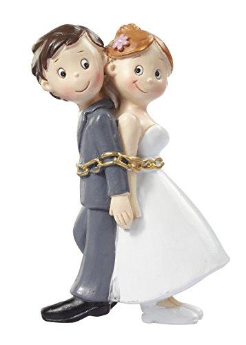 Hochzeitspaar in Ketten Figur Deko Brautpaar Tortendeko 8 cm