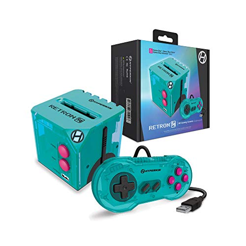 Hyperkin RetroN Sq: HD Gaming Console for Game Boy/Color/ Game Boy Advance (Hyper Beach) - Game Boy Advance