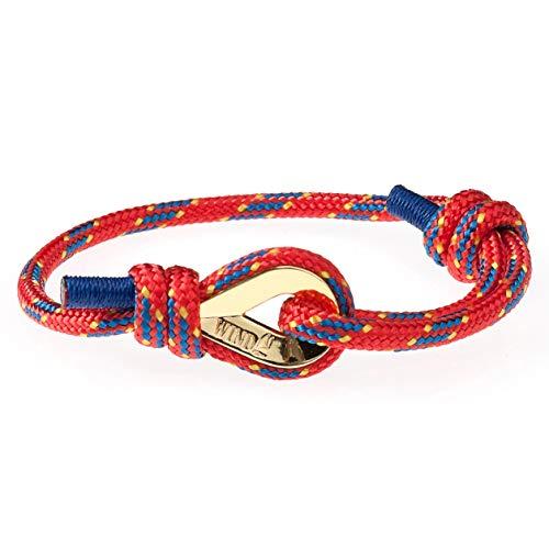 Wind Passion Höchste Qualität Nautic Seil Maritim Rot Herren Armband