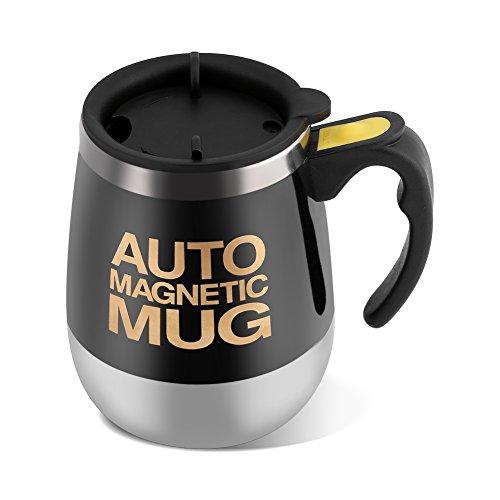 Wakects Taza autoagitante, taza eléctrica de mezcla de acero inoxidable, taza de...