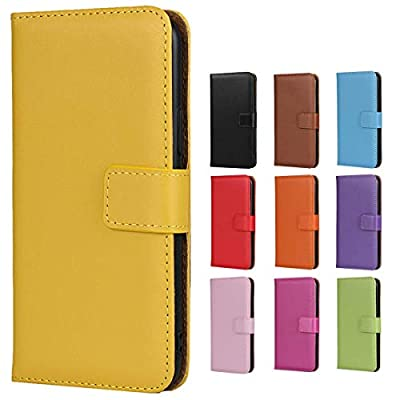 """Jaorty iPhone 7/8 Case,Premium Genuine Leather Folio Wallet Case Flip Cover Case with Kickstand Feature & Magnetic Closure Card Slots/Cash Compartment for iPhone 8 iPhone SE (2020 Edition) 4.7"""",Yellow"""