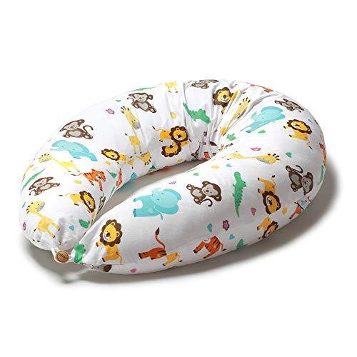 Niimo Stillkissen Schwangerschaftskissen zum schlafen groß XXL erwachsene mit Bezug aus 100% Baumwolle für Mutter und Baby (Dschungel)